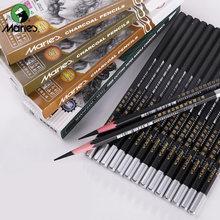 Maries 12 шт Набор деревянных карандашей с древесным углем мягкий