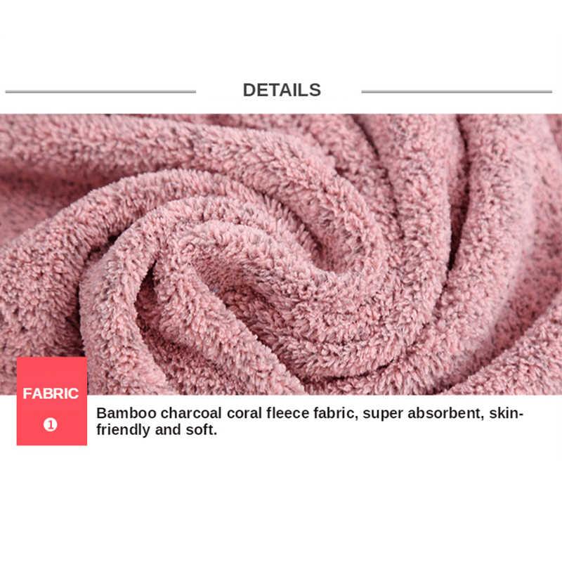 70X140Cm Bamboe Houtskool Coral Fluwelen Badhanddoek Voor Volwassen Zachte Absorberende Microfiber Stof Handdoek Huishouden Badkamer Handdoek sets