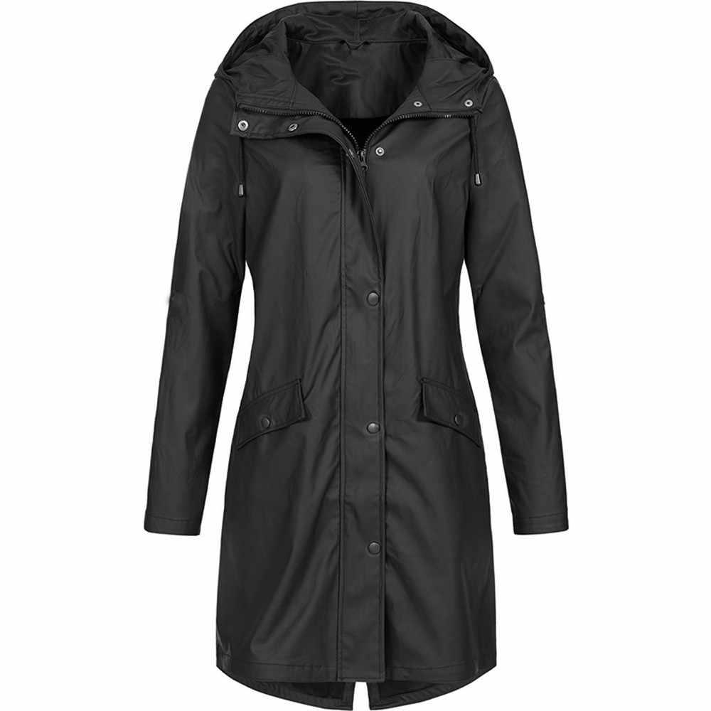 Yağmurluk kadın geçirimsiz su geçirmez rüzgar geçirmez yağmurluk rüzgarlık bisiklet ceketler artı boyutu çapa de chuva Regenhoes Dropshipping #
