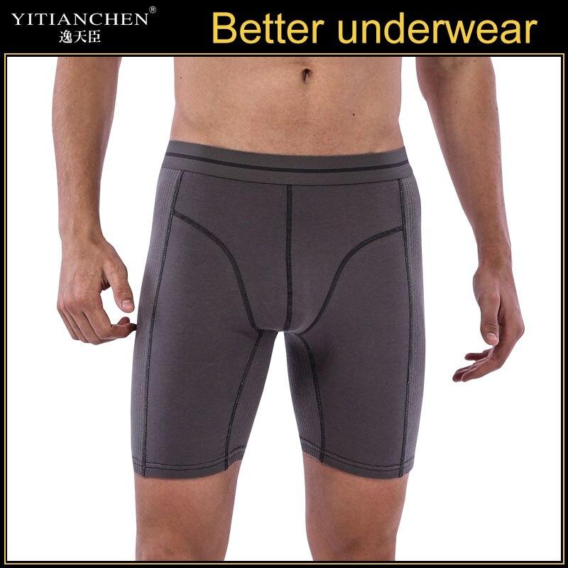 Long Men Boxer Underwear Men Underware Boxer Shorts Mens Cotton Long Leg Boxers Underpants For Brand Quality Sexy Pouch Panties