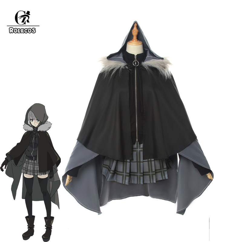 ROLECOS Game Fate Grand Order Cosplay Costume Gray Lord El-Melloi II Case Files Cosplay Women Halloween Costume Skirt Cloak