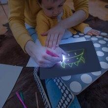 1 шт., A5 светодиодный светящийся чертежный щит для рисования граффити, планшет для рисования, волшебный светильник для рисования, забавная и развивающая игрушка для детей, подарок