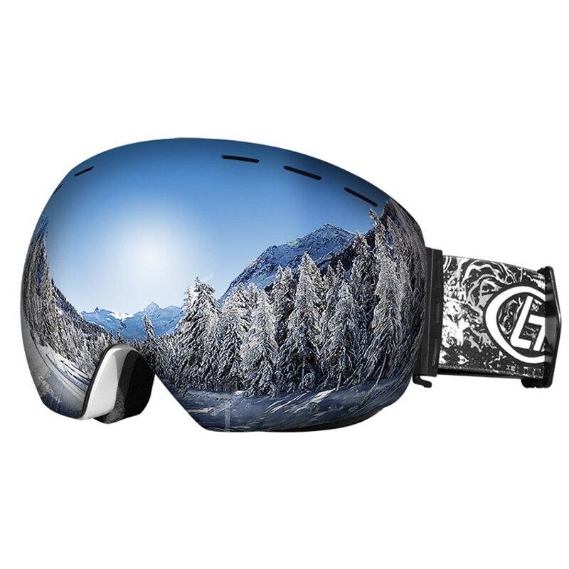 Lunettes de Ski Anti-buée à Double couche anti-uv en plein air Sport d'escalade Anti-vent grandes lunettes de lentille de snowboard sphériques