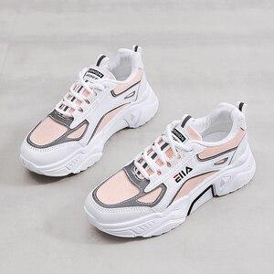 Zapatillas blancas para correr para Mujer, calzado para deportes al aire libre, calzado deportivo para Mujer, calzado deportivo para caminar, zapatillas para Mujer