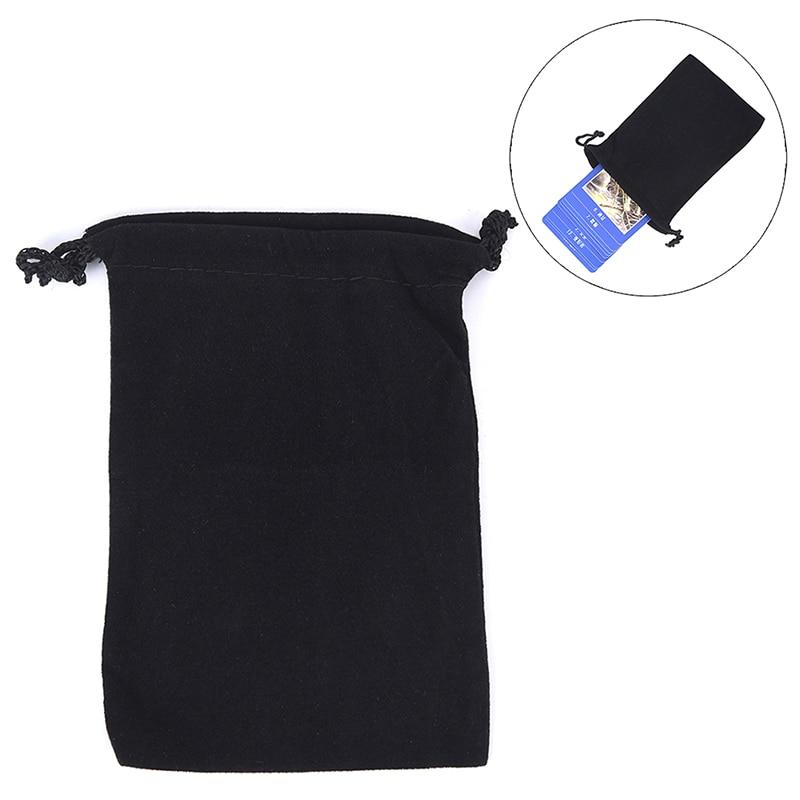 10pcs/lot Velvet Tarot Card Storage Bag Jewelry Bag Black Dice Bag  Mini Drawstring Package For Playing Cards Toy