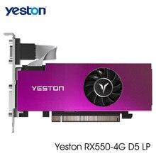 Yeston Radeon RX 550 GPU 4GB GDDR5 128bit Gaming Desktop Computer PC Video Graphics Karten VGA/DVI-D/HDMI-kompatibel PCI-E 3,0