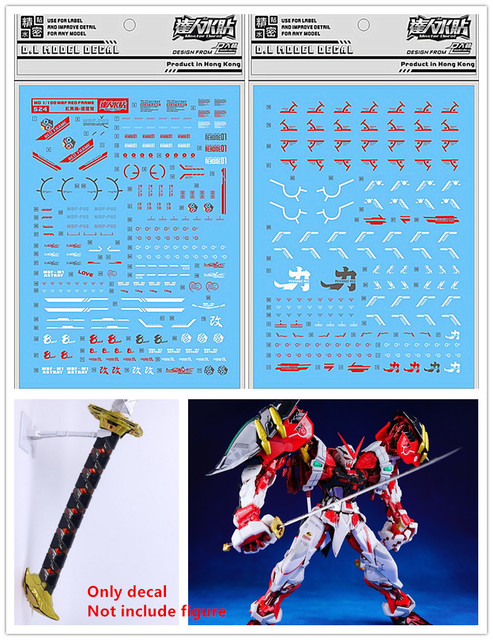 D.L high quality Decal water paste For Bandai MG MB 1/100 Astray Red Frame Powered Red Gundam DL161