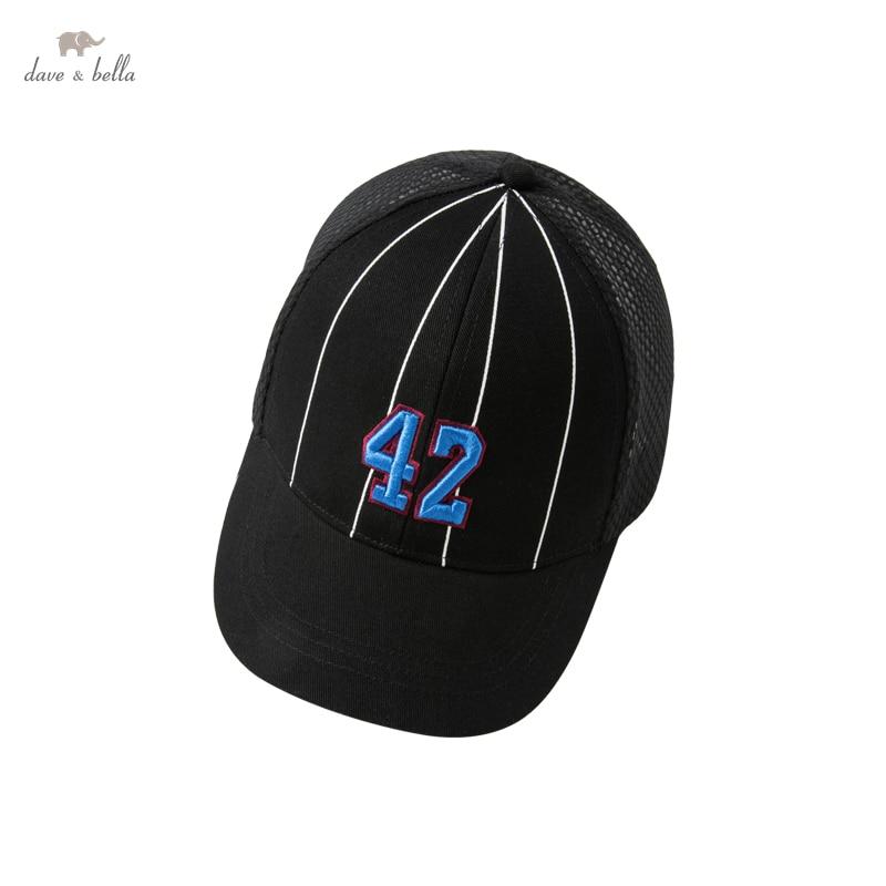 DKY17306-3 dave bella summer  fashion new born baby boy sfashion letter hat