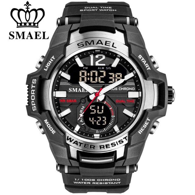 Smael 2020 relógios masculinos moda esporte super legal quartzo led relógio digital 50 m relógio de pulso à prova dwaterproof água relógio masculino
