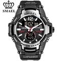 Мужские светодиодные часы SMAEL  черные спортивные часы  кварцевые часы с влагоустойчивостью до 50 мм  наручные цифровые часы  2020