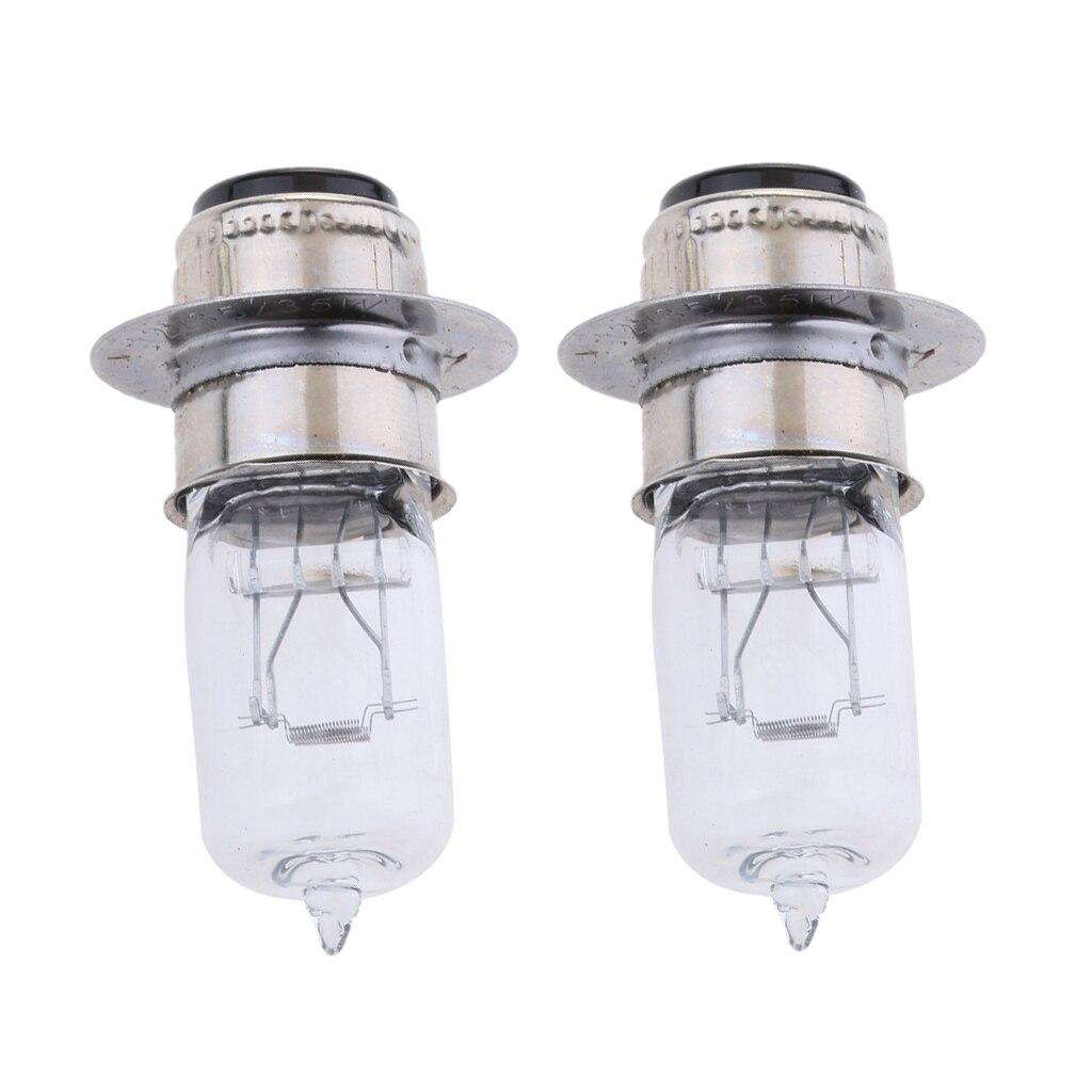 2 Pcs P15D-25-1 12V 35/35W Motorcycle White Halogen Headlight Headlamp Bulbs 2 X 0.4 Inch