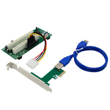 PCI-E X1 to 2XPCI Card Slot Expansion Card PCI Card Slot Conversion Card Split Plug and Play Free Drive for PC