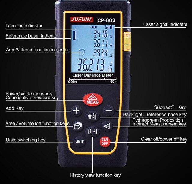 laser distance meter 40M 60M 80M 100M 120M 150M Laser rangefinder laser tape range finder measure metro tape 5