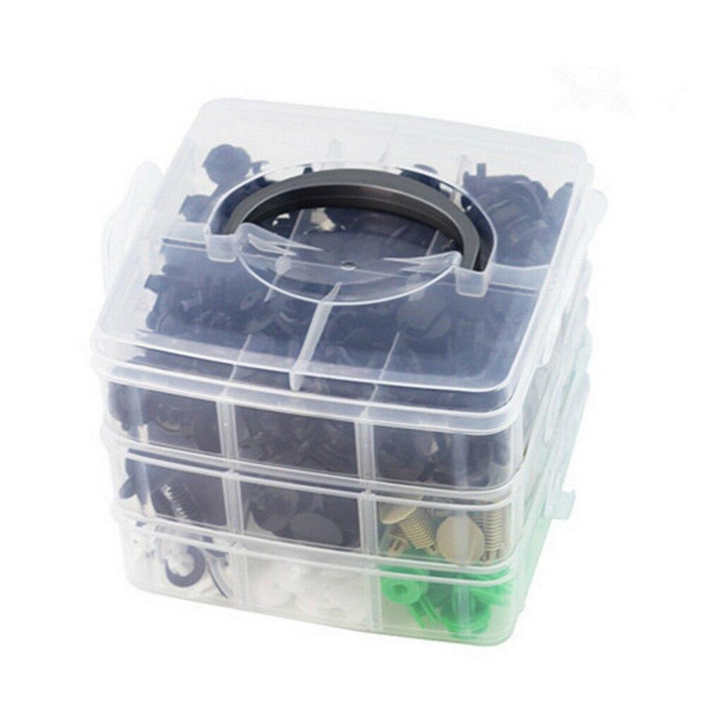 500x Kit de Rivets en plastique pour Renault Peugeot Audi Toyota Honda attaches garde-boue de voiture pare-chocs retenue garniture de porte panneau punaise 5mm 6mm 7mm 8mm 9mm 10mm 11mm 12mm