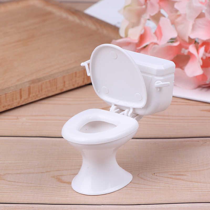 เฟอร์นิเจอร์ตุ๊กตา VINTAGE ห้องน้ำการสร้างแบบจำลองสีขาวห้องน้ำตุ๊กตา House Miniature Baby Pretend ของเล่นตุ๊กตาอุปกรณ์เสริม