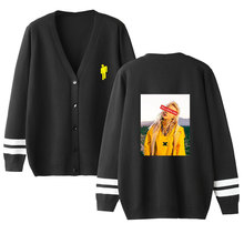2019 Billie Eilish Pirate Baird OConnell Print fashion V-neck single-breasted sweater sweatshirt Women coat clothes