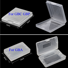 YuXi 50Pcs Clear Plastic Game Cards Case Dust Cover Case For Nin tendo Game Boy Advance GBA GBC GBP Protector Holder Cover
