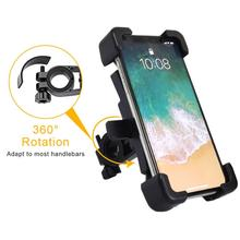 цена на 360 Rotation Bicycle Phone Holder Adjustable Motorcycle Handlebar Mobilephone Support MTB Road Bike Mount Stand Bike Accessories