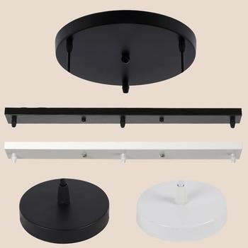 цена на Ceiling Plate Multi Size DIY Black/White Plate 2/3/4/5 Holes Light Fittings Round Rectangular Straight Accessories Lamp Base