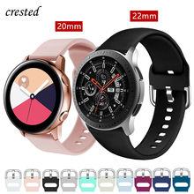 20/22mm pulseiras de relógio para samsung galaxy assista 46mm/42mm/ativo 2 cinta engrenagem s3/s2/esporte silicone pulseira huawei relógio gt/s 3/2/46