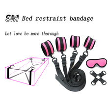 Under Bed BDSM Bondage Restraint System ,Sex Toys for Couples PU leather handcuffs  Ankle cuffs Sex Products Fetish Adult Games