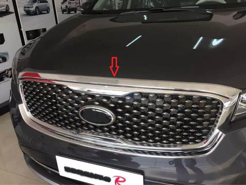 1PC ABS Chrome Přední kryt motoru stroje Kryt krytu Kryt kapoty nálepky auto styl pro Kia Sorento 2015 2016 17