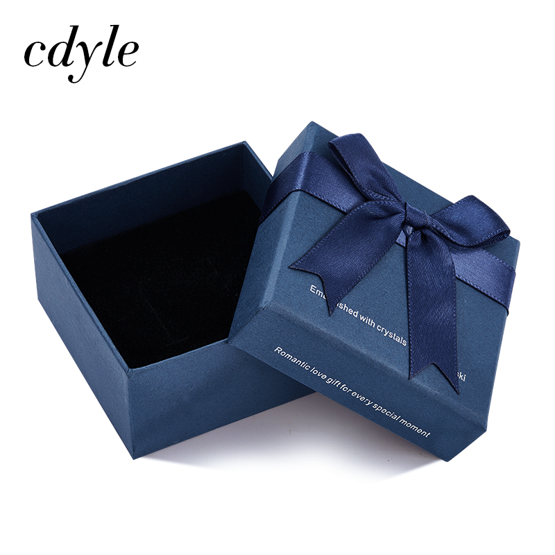 Cdyle High Quality Blue Gift Box for <font><b>Necklace</b></font> <font><b>Earrings</b></font> <font><b>Ring</b></font> <font><b>Bracelet</b></font> Fashion Jewelry Packaging Boxes image