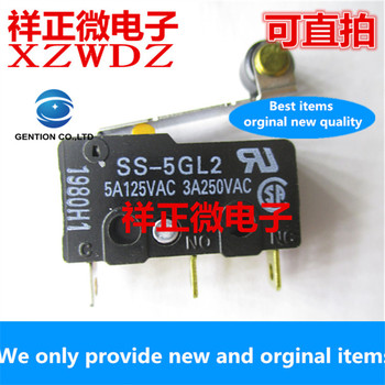 10pcs 100% orginal new real stock genuine small limit position switch stroke micro switch SS-5GL2 with pulley