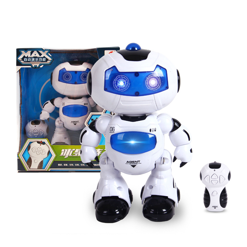 Early Education with Remote Control Smart Electric Educational Sound And Light Dancing Children Fruit Ice Robot Toys Gift Can Si