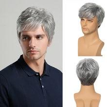 Парики из синтетических волос для молодых мужчин с короткой