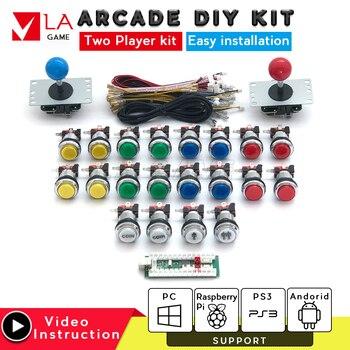 2 player arcade kit zero delay USB encoder to PC Rasberry PI arcade diy kit sanwa joystick arcade machine for mame jamma project