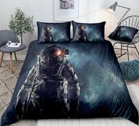 3D Galaxy Astronaut Duvet Cover Universe Space Bedding Space Quilt Cover Queen Home Textiles Space Bed Set Kids Teens Dropship