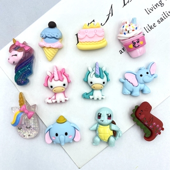 10pcs Resin Mini Unicorn /Cake Flat back Cabochons for DIY Hair Bow Center Scrapbooking Embellishments Phone Decoration B94 50pcs lots cute fly horse flat back resin diy craft supplies for bow center decoration unicorn button earring jewelry ornament