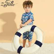 ZAFILLE Boys Clothes Beach Style Baby Clothing Toddler 2Pcs Outfits Leaf Printed Short Sleeve Kids Suits Baby Boy Outfits Sets summer infant clothes cotton short sleeve tops pants baby toddler boy clothing sets kids children boys outfits suits