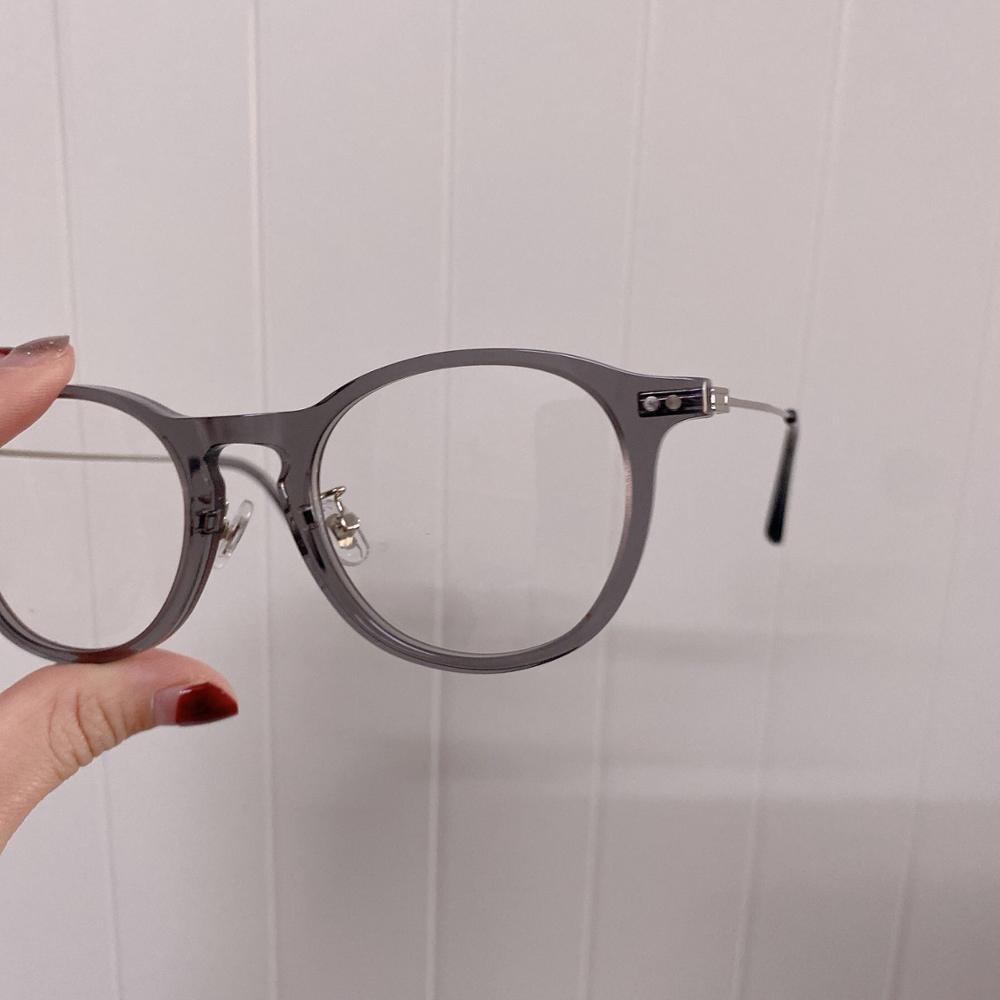 Cozmo прозрачный серый носовой коврик корейский бренд круглые металлические оправы очки по рецепту анти голубой светильник линзы
