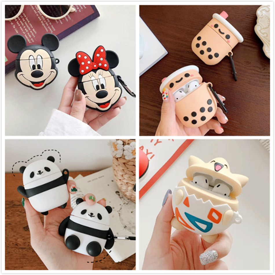 Earphone Case For Airpods Case Silicone Cartoon Cute Headphone Covers For Air Pods Cases For Apple Earpods Earbuds Accessories 2