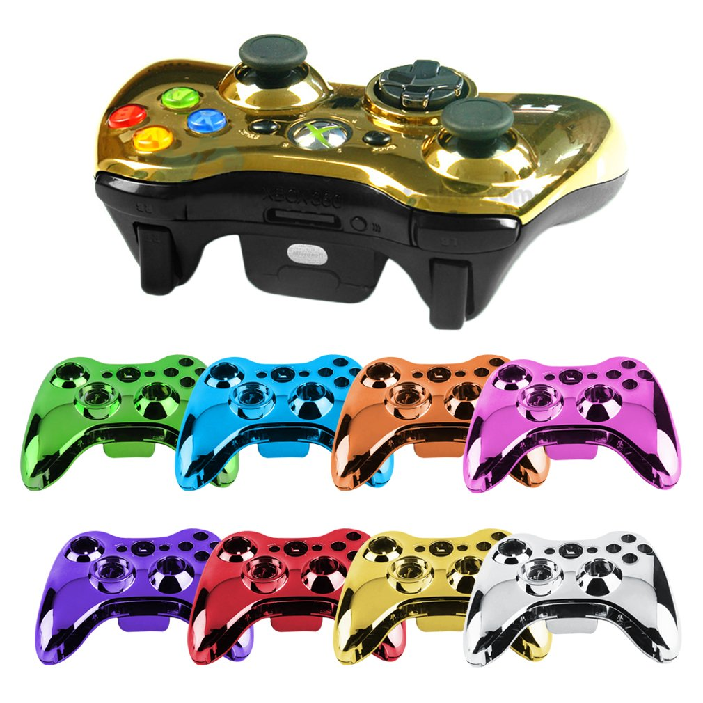 Wireless Controller Shell Case Accessories Kits Set for Xbox 360 Wireless Controller Shell Case Bumper Thumbsticks Buttons Game