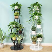 Гостиная Бытовая подставка для цветов, многоэтажная спальня балкон, железный художественный круговой декор для полки зеленая подвеска с лотосом Орхидея R