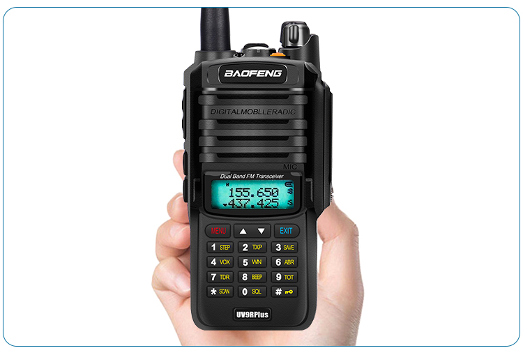 2pcs 8000mah 10W Baofeng UV-9R plus waterproof walkie talkie for CB ham radio station 10 km two way radio uhf vhf mobile plus 9r (41)