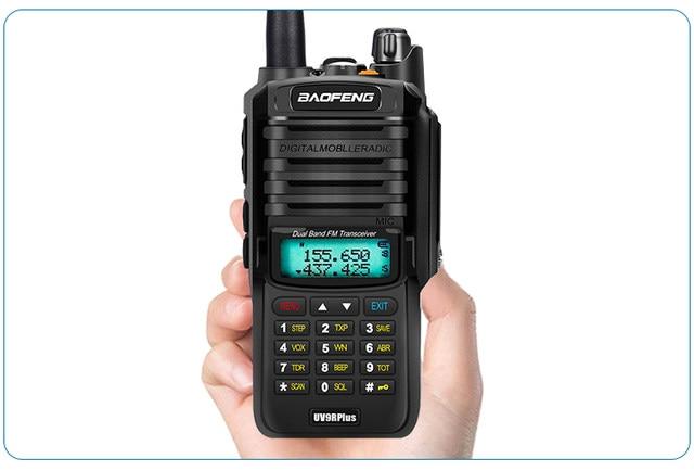 2pcs 8000mah 10W Baofeng UV-9R plus waterproof walkie talkie for CB ham radio station 10 km two way radio uhf vhf mobile plus 9r (41)