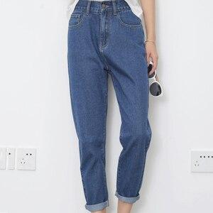 Image 3 - Kot Kadınlar Yaz Yüksek Bel Düz Ince Kore Tarzı Bayan Streetwear Kadın Fermuarlı Cepler Basit Tüm Maç Şık Pantolon