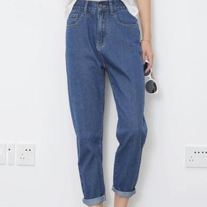 Image 3 - ג ינס נשים קיץ גבוה מותניים ישר Slim קוריאני סגנון נשים Streetwear נשי רוכסן כיסים פשוט כל התאמה שיק מכנסיים