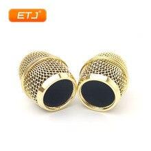 2 adet cilalı altın Beta87A Mesh Grille için Metal top Shure mikrofon aksesuarları toptan