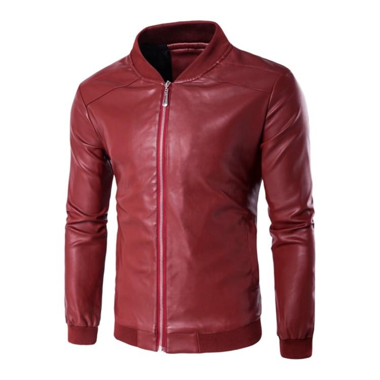 Men Leather Jacket Spring Autumn Casual Coat Men