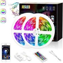 JESLED 12V Led Light Strip 5050SMD With 44 Keys RF Remote Controller RGB Music 5M 10M LED Lamp Bedroom Decorative Lighting