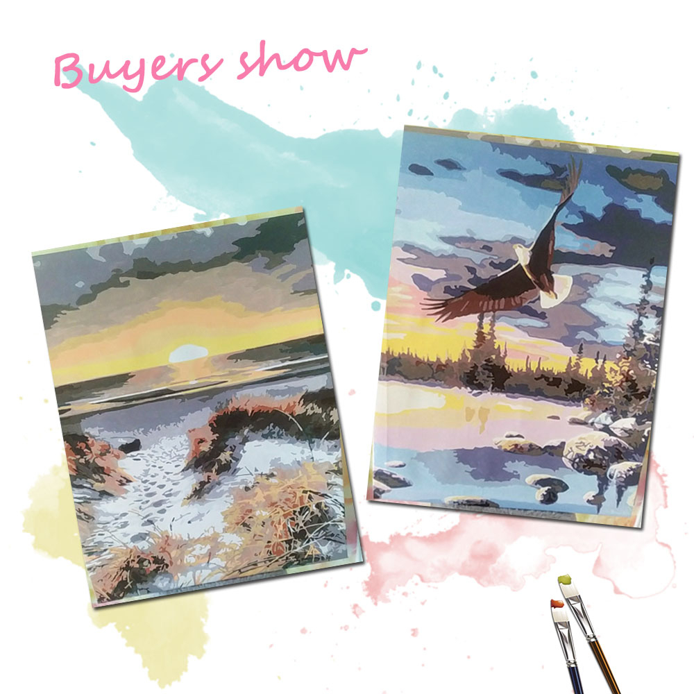 EverShine DIY Painting By Numbers Seascape Hand Painted Drawing Canvas Wall Art Landscape Home Decoration-1