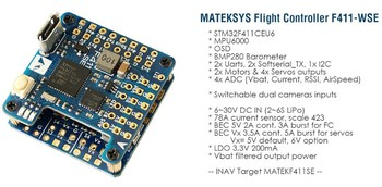 Matek F411-WSE With OSD Racing Drone RC Plane FPV Flight Controller