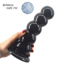 Big Size Anal Beads Soft Butt Plug Anus dilator Sex Toys for Adults Men Woman Large Booty Beads Black Dildo Anal Sex Toys Shop 50mm diameter anal plug black soft silicone big long tail anal ball dilator butt plugs dildo buttplug sex toys for men and women