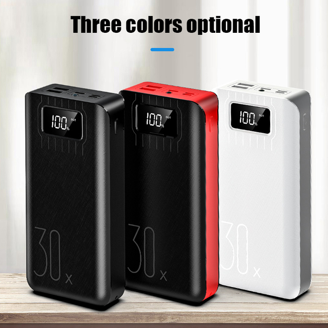 50000mAh Power Bank TypeC Micro USB QC Fast Charging Powerbank LED Display Portable External Battery Charger 5