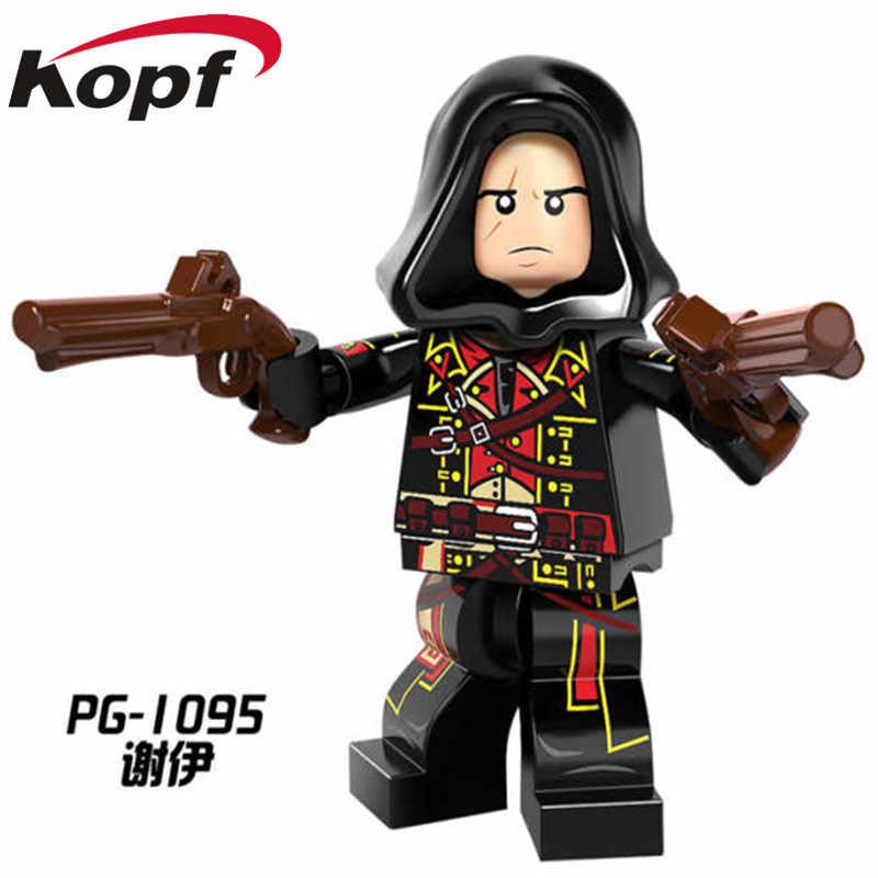 บล็อกอาคาร Super Heroes Legoinglys Dorian Aveline Connor FRYE Cormac Kenway Evie Adewale ตัวเลขของเล่นเด็กของขวัญ PG8086